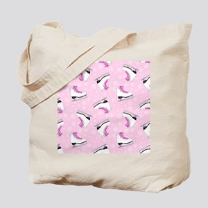 Pink Ice Skating Pattern Tote Bag